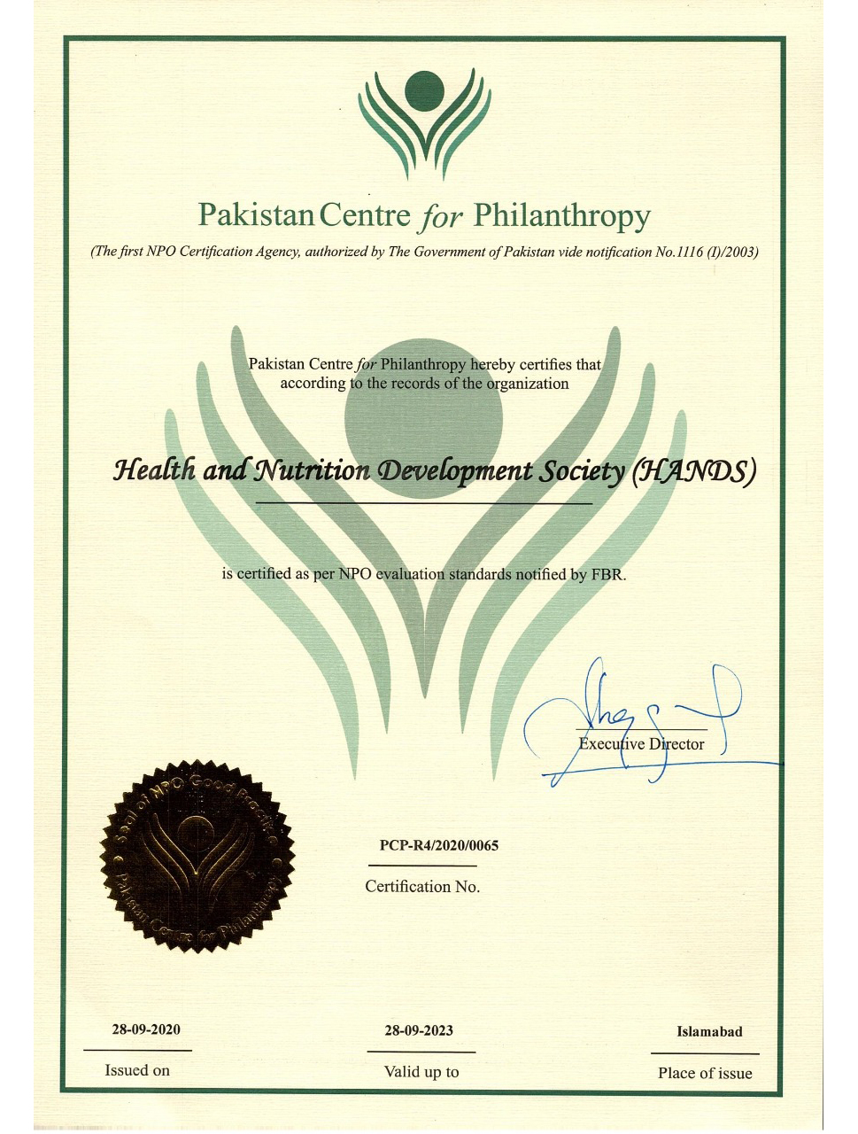 Pakistan center Philanthropy
